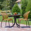 Empire Outdoor Wicker Bistro Dining Chair Cork
