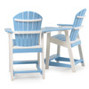 Adirondack Patio  Counter Stool Set with Slide In Table (alternate view)