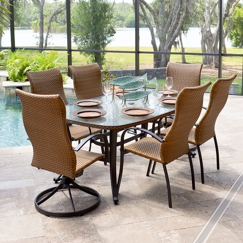 Empire Patio 7 Pc. High Back Dining Set