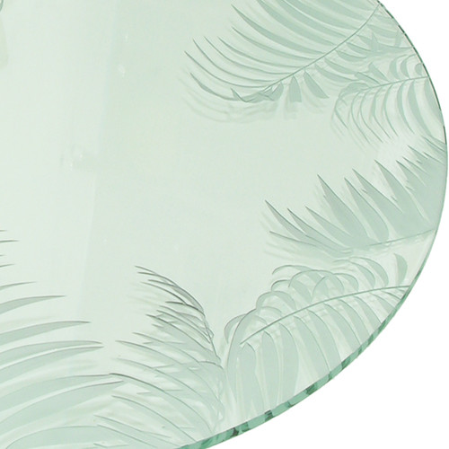 Fiji Carved Glass Table Top