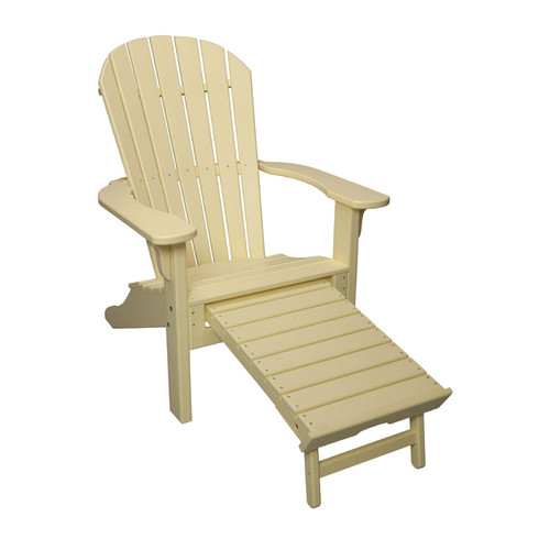 Adirondack Chair with Pullout Ottoman
