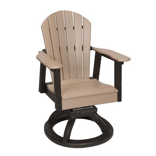 Patio Swivel Rocker Dining Chair