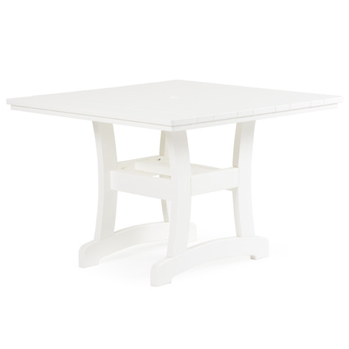 """Bayshore 42""""  Patio Square Poly Lumber Dining Table"""