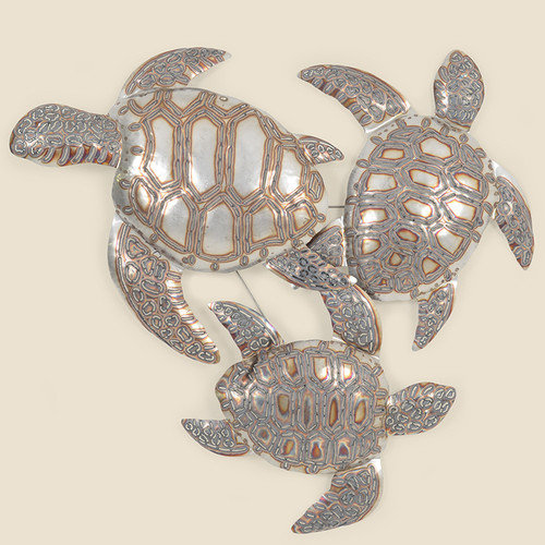 Triple Turtle Outdoor Wall Hanging