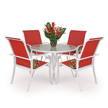 Outdoor Aluminum Sling Dining Set