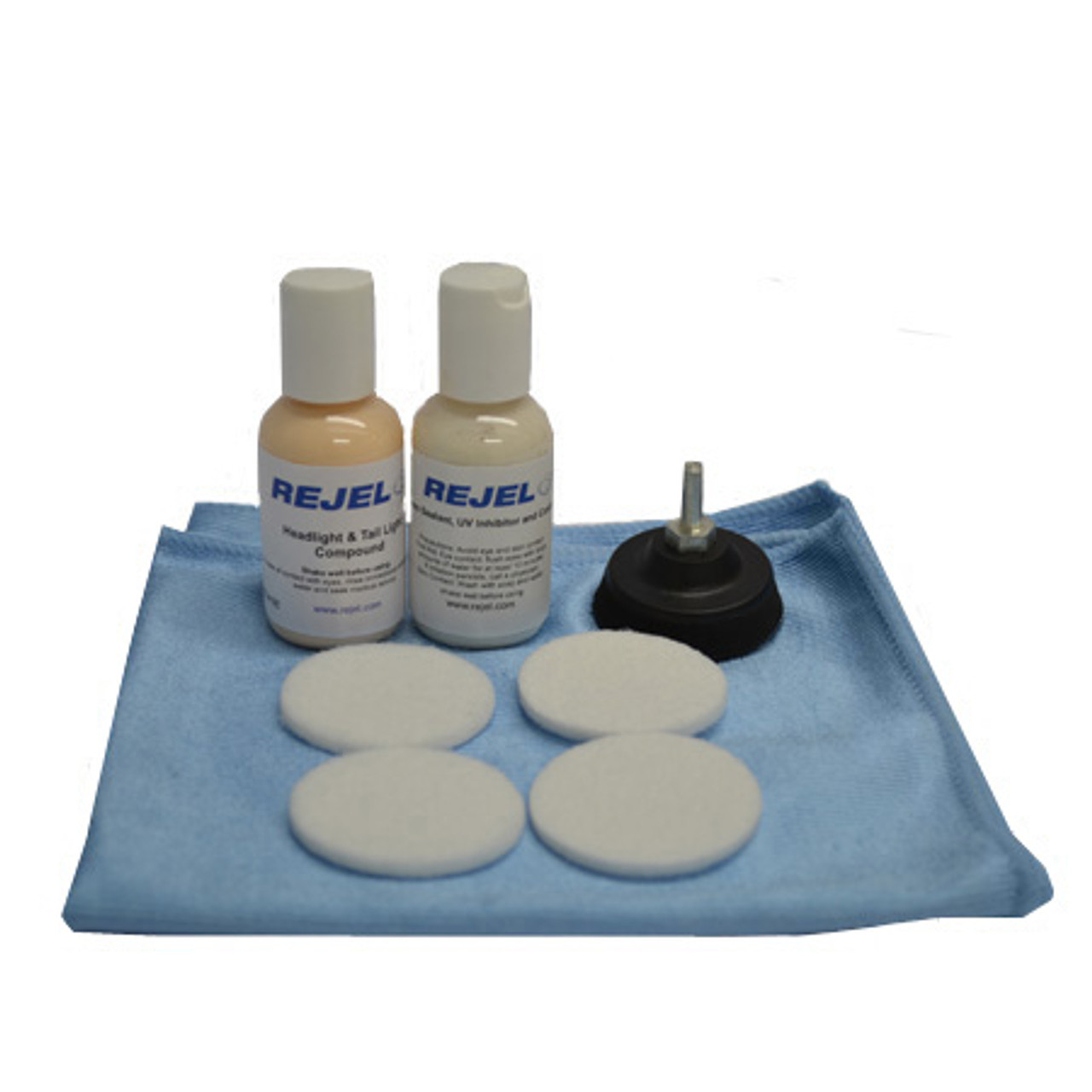 """REJEL DIY HEADLIGHT / TAIL LIGHT 2"""" SCRATCH REPAIR KIT FOR REMOVAL OF HAZINESS with UV SEALANT"""
