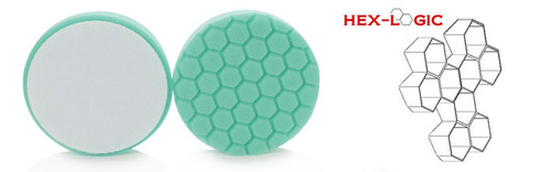 "4"" HEX LOGIC Pad GREEN LIGHT CUT-HEAVY POLISH MINOR SCRATCH & SWIRL REMOVER Pad- (4""inch)"