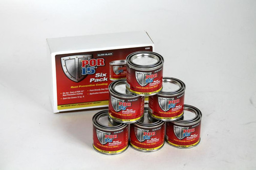 POR15 6-Pack Black Rust Preventive Paint Kit
