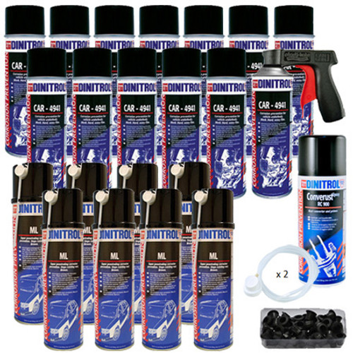 Dinitrol Extra Large Classic Rustproofing Aerosol Spray Kit