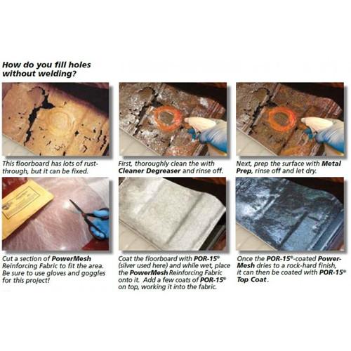 POR15 Power Mesh Reinforcing Fabric - Fiberglass Cloth for Panel Repair