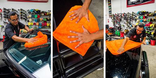 "Fatty Super Dryer Microfiber Towel, Orange 34"" x 25"""