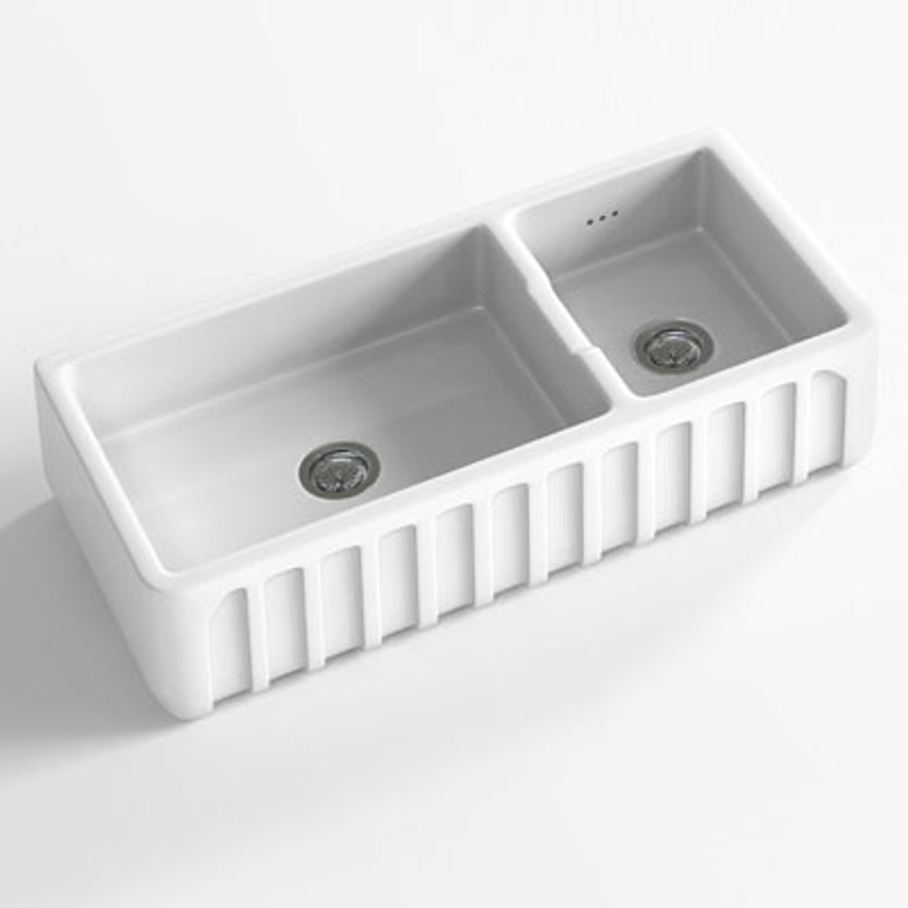 Chambord Louis III White Ceramic Kitchen Sink - Sinks