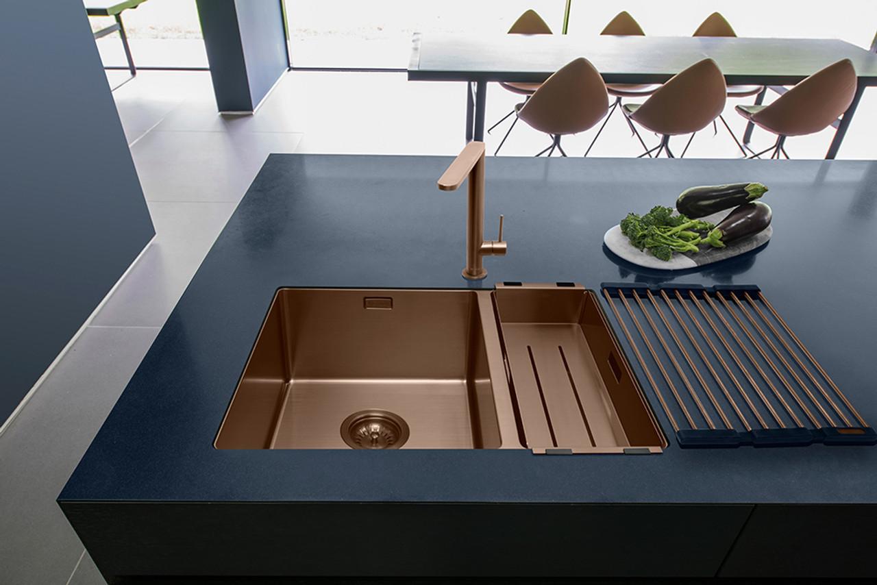 Caple MODE3415/R/CO Copper One + Half Bowl Kitchen Sink - Sinks