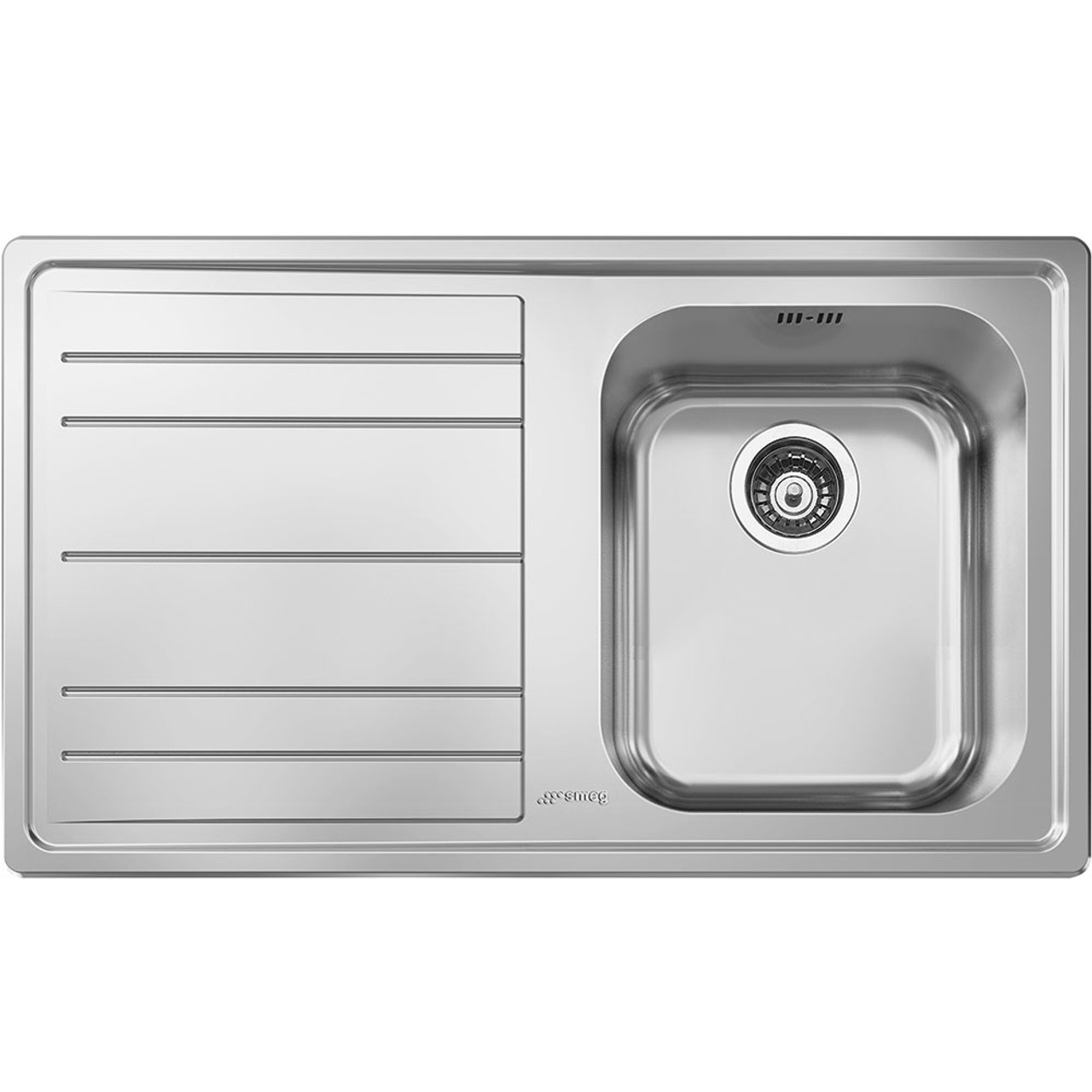 Smeg LE861 Rigae Single Bowl Kitchen Sink With Drainer - Sinks