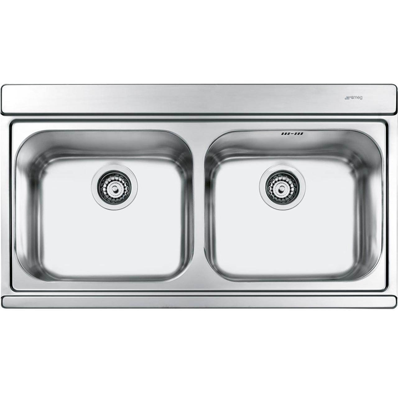 Smeg LI92 Iris Double Bowl Kitchen Sink - Sinks