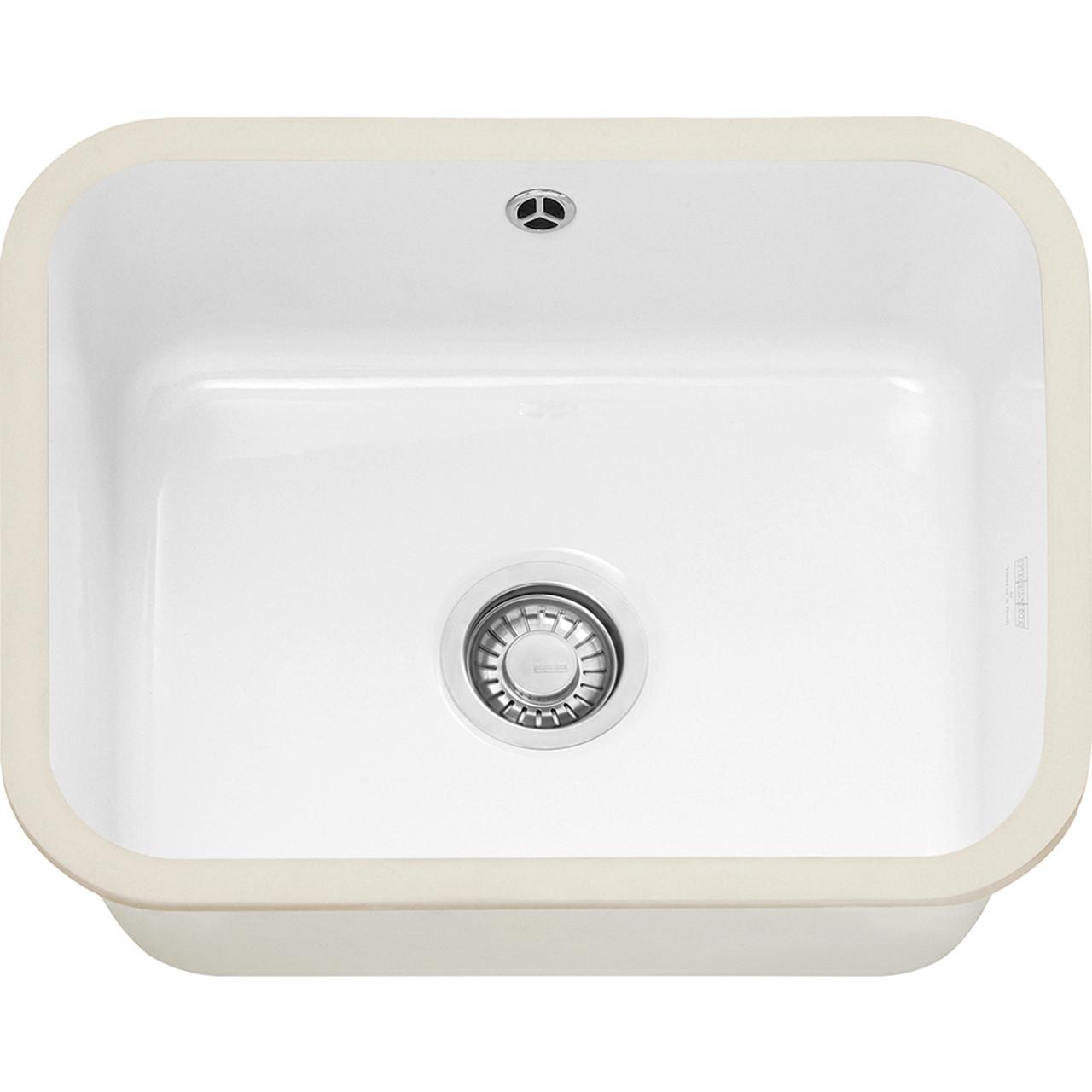 Kitchen Sink White: Franke VBK110 50 Ceramic White Kitchen Sink