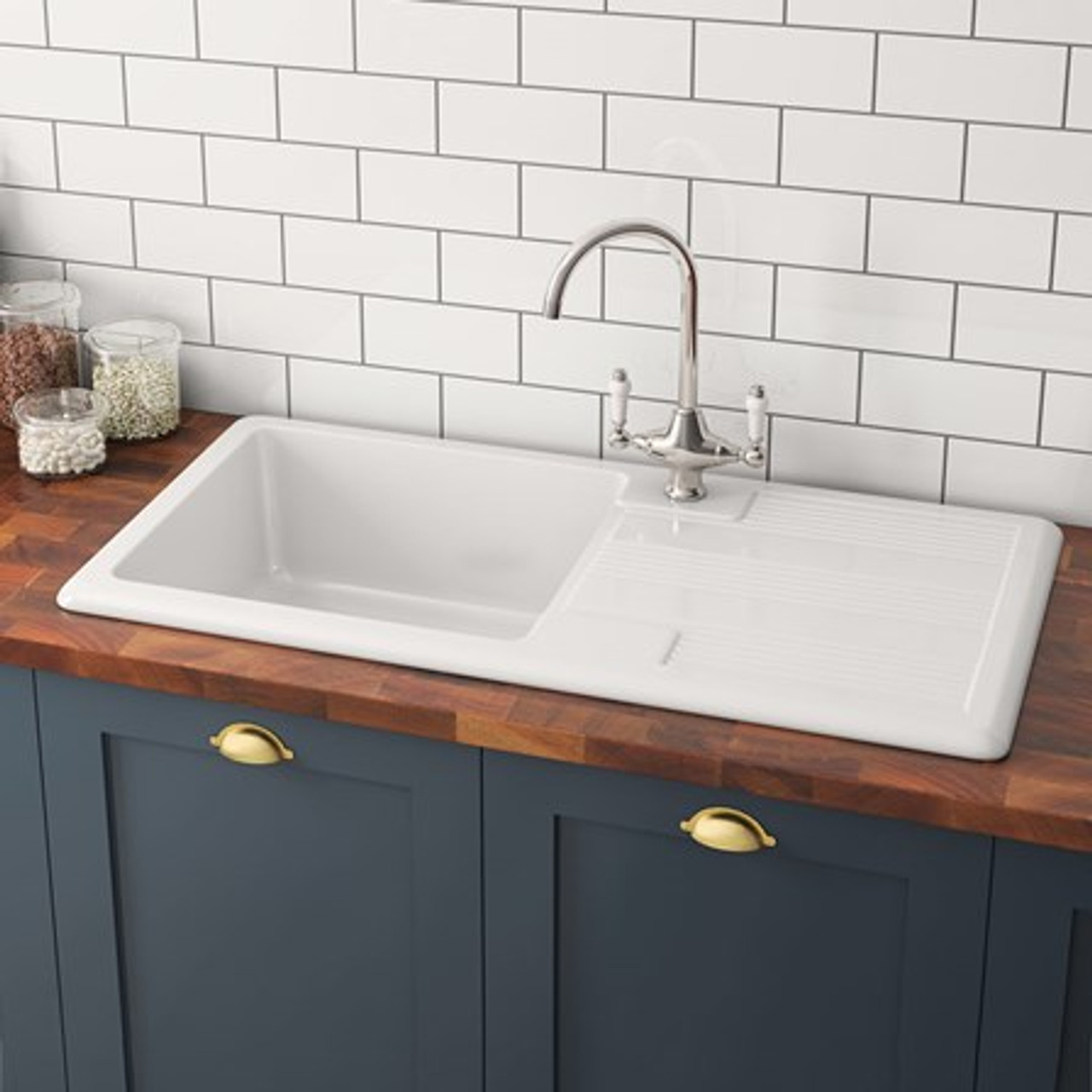 Brass traditional sinks rivendale ceramic kitchen sink sinks brass traditional sinks rivendale ceramic kitchen sink workwithnaturefo