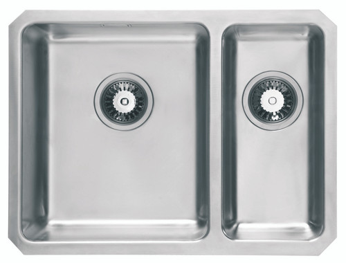 Bon Brass U0026 Traditional Oasis Combi Stainless Steel One + Half Bowl Undermount  Sink