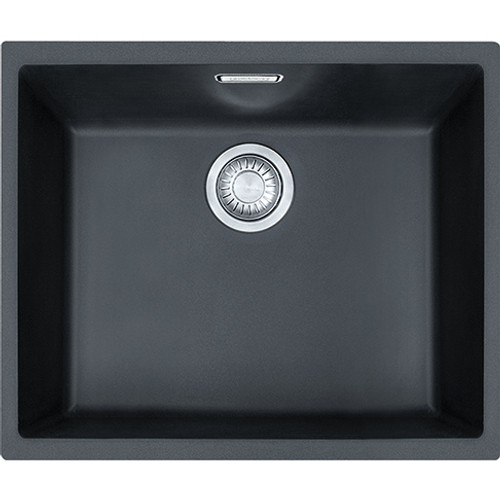 franke sirius sid110 50 tectonite carbon black kitchen sink sinks