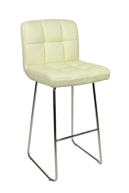 Giola Fixed Height Curved Bar Stools Cream