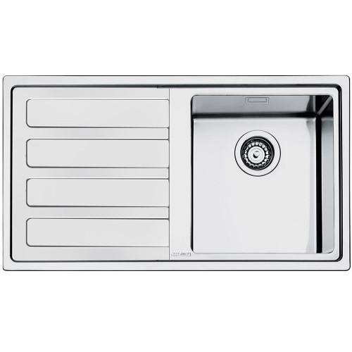 Smeg LD861 Mira Single Bowl Kitchen Sink With Drainer - Sinks