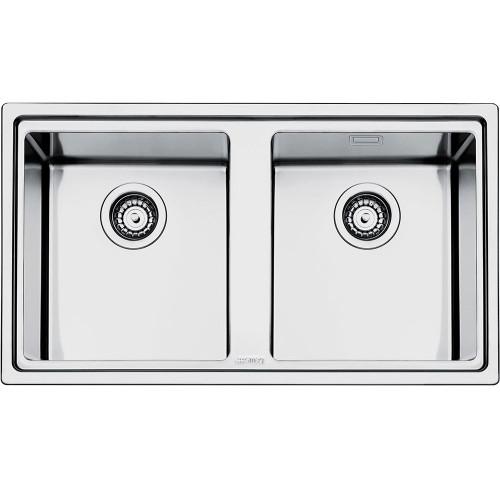 Smeg LD862 Mira Double Bowl Kitchen Sink - Sinks