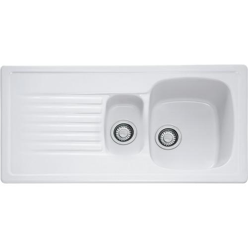 Franke Elba ELK651 Ceramic White Kitchen Sink