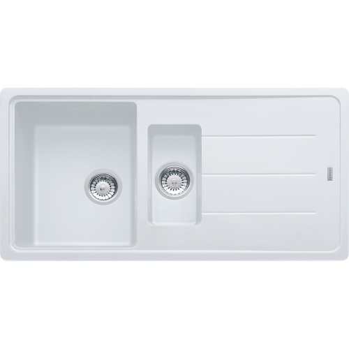 Charmant Franke Basis BFG651 Fragranite Polar White Kitchen Sink