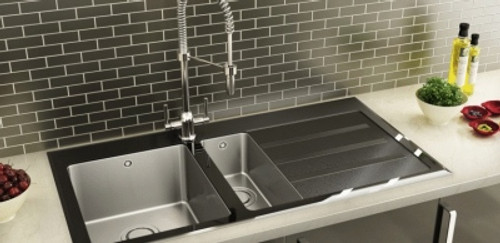 Glass sinks contemporary kitchen sinks carron phoenix silhouette kitchen sink workwithnaturefo
