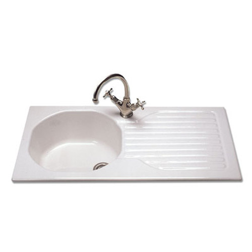 Brass & Traditional Sinks Classique Single Bowl Ceramic Inset ...