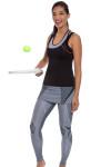 Grid Tennis Skirt Legging