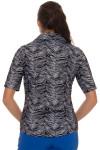 GGBlue Women's Black Diamond Jane Golf Polo Shirt