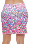 Woodstock Coachella Tetrus Border Print Pull On Golf Skort