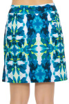 EP Ipanema Kaleidoscope Feather Print Pull On Golf Skort