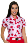 Jofit Women's Barossa Sport Printed Zip Golf Polo Shirt
