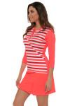 EP Sport Women's Mahalo Hula Stripe Blocked Golf Long Sleeve Shirt