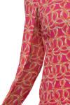 Icikuls Women's Shilia Crew Neck Pink Sun Shirt