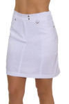 GGBlue Women's Essentials White Wedge Golf Skort