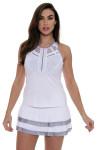 Lucky In Love Women's Snake Charmer Border Tier Lilac Tennis Skirt