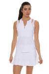 "Sofibella Women's Tulip Hem White 14"" Tennis Skirt SFB-1547 Image 5"