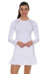 "Sofibella Women's Tulip Hem White 14"" Tennis Skirt SFB-1547 Image 7"