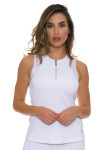 Sofibella Women's Athletic White Tennis Tank Top SFB-1669 Image 1