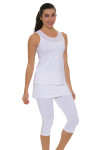 Sofibella Women's Athletic Full Back White Tennis Top SFB-1684 Image 2