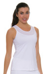 Sofibella Women's Athletic Full Back White Tennis Top SFB-1684 Image 1