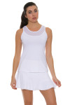 Sofibella Women's Athletic Full Back White Tennis Top SFB-1684 Image 4