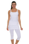 Sofibella Women's Athletic Cami White Tennis Tank SFB-1706 Image 6
