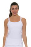 Sofibella Women's Athletic Cami White Tennis Tank SFB-1706 Image 1