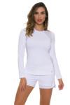 Sofibella Women's Classic White Long Sleeve SFB-1710 Image 4
