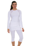 Sofibella Women's Classic White Long Sleeve SFB-1710 Image 5