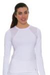 Sofibella Women's Classic White Long Sleeve SFB-1710 Image 1